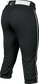 Easton Prowess Softball Pant Women's Piped BLACK/WHITE  S image number null