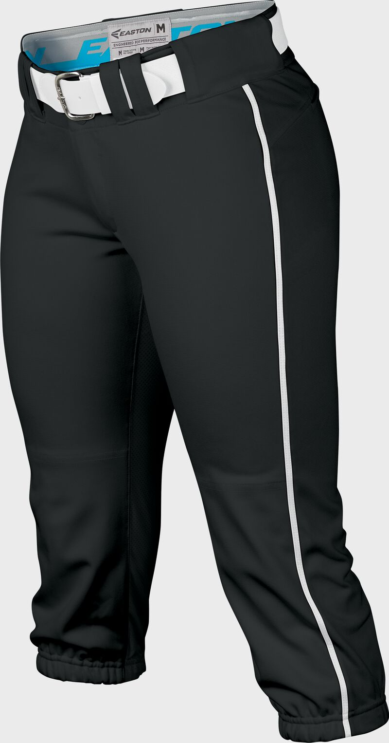 Easton Prowess Softball Pant Women's Piped BLACK/WHITE  S