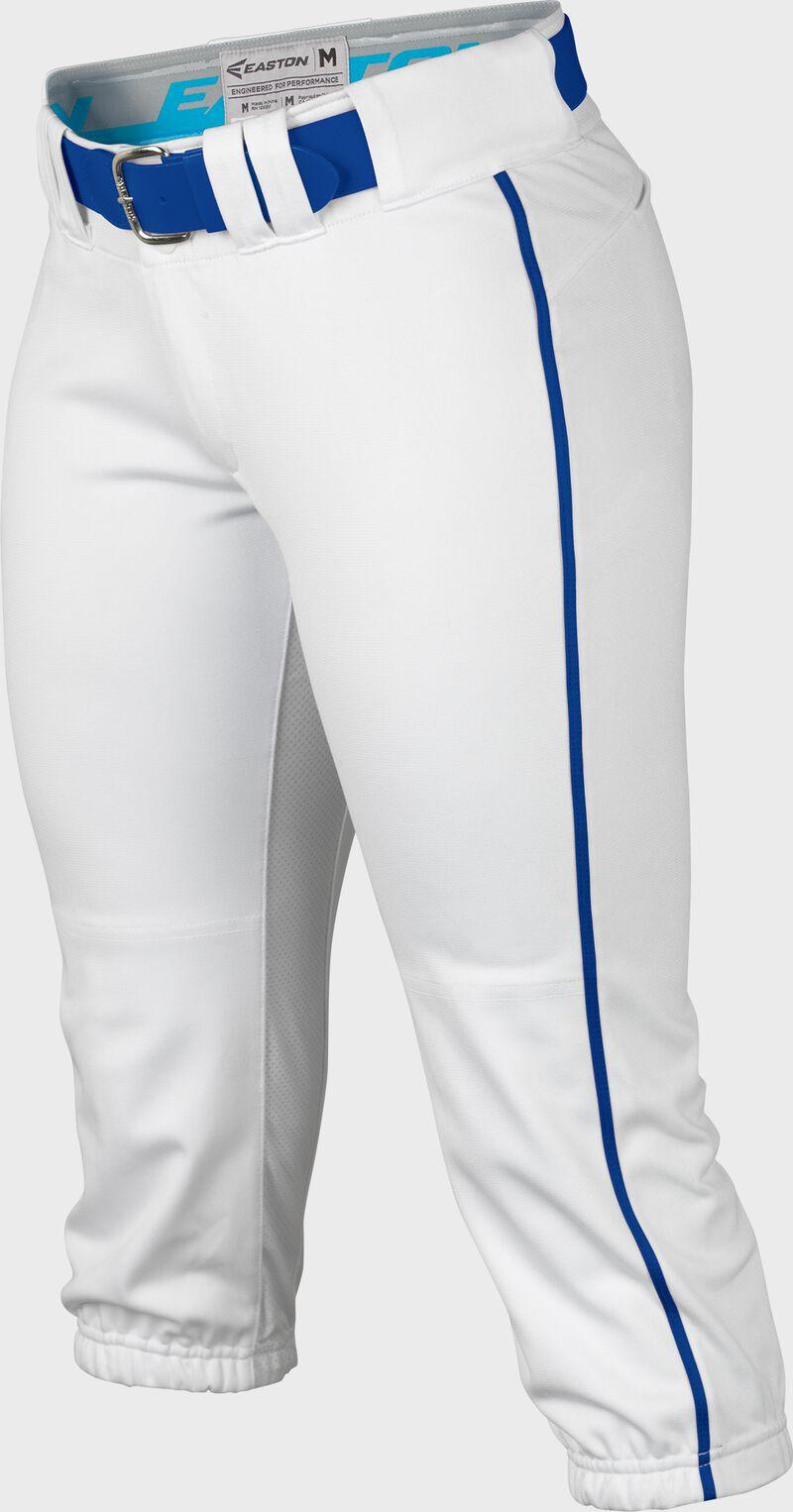 Easton Prowess Softball Pant Women's Piped WHITE/ROYAL  XXL