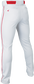 RIVAL+ PANT ADULT PIPED WHITE/RED M image number null